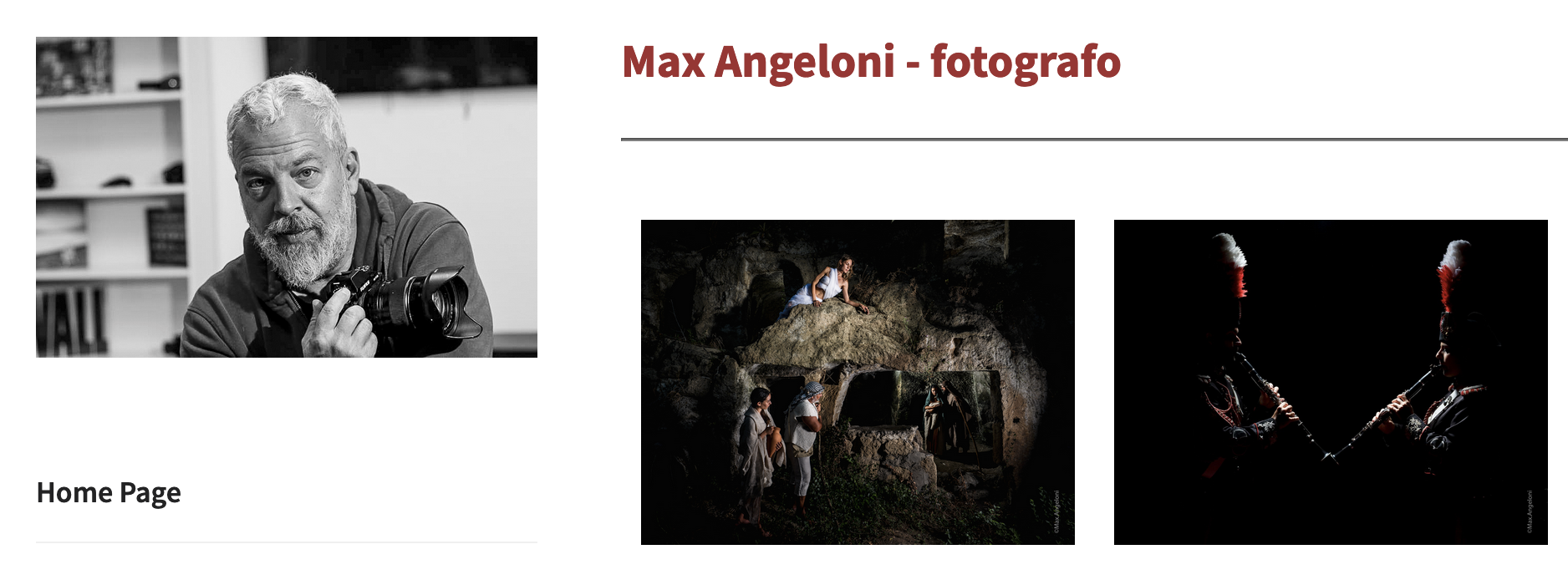 Max Angeloni Web Site